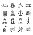 law icon flat vector image vector image