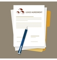 Lease agreement property house document paper pen vector image vector image