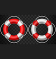 life buoy icon red and white on dark background vector image