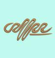 liquid text brown coffee vector image vector image