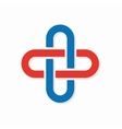 Medical cross logo or icon vector image