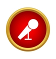 Microphone for karaoke icon simple style vector image