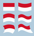 Monaco flag Set of flags of Monaco Republic in vector image vector image