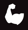 muscular arm vector image vector image