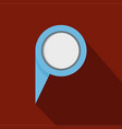 navigation pin icon flat style vector image