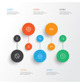 network icons set collection of estate research vector image vector image
