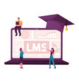 online education learning management system vector image vector image