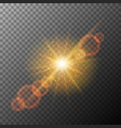 orange rings of light on gray background vector image