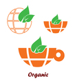 organic icon in orange color vector image