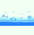 panorama view tropical seascape blue ocean and vector image vector image