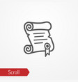 paper scroll silhouette icon vector image vector image