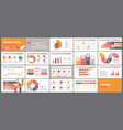 presentation template design with infographic vector image vector image