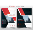 red black abstract annual report brochure vector image vector image
