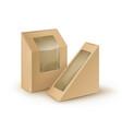 set brown blank cardboard rectangle vector image vector image