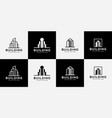 set building logo with line art style city vector image vector image