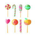 set of bright candies set of colorful vector image vector image