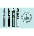 Set of flat icons vaporizers e-cigarette vector image