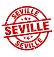 seville red round grunge stamp vector image vector image