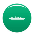 ship combat icon green vector image vector image