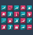 Shoes and accessories icons vector image
