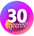 spectrum thirty years greeting card with colorful vector image vector image
