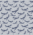 stars and airplanes seamless pattern design vector image