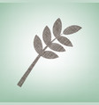 tree branch sign brown flax icon on green vector image vector image
