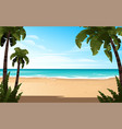 tropical landscape coast beautiful sea shore vector image vector image