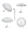 umbrella white rainy season accessory realistic vector image vector image
