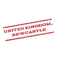 United Kingdom Newcastle Watermark Stamp vector image vector image