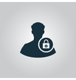 User login or authenticate icon vector image vector image