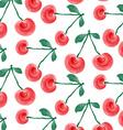 watercolor cherries background vector image