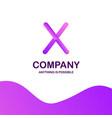 x company logo design with purple theme vector image vector image