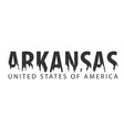 arkansas usa united states of america text or vector image