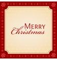MERRY CHRISTMAS holiday season concept vector image