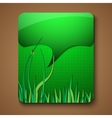 eco promotion brochure with diverse green elements vector image