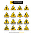 16 triangle warning signs vector image vector image