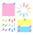 a set of color office stickers buttons and clips vector image vector image