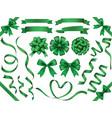 a set of green ribbons vector image vector image