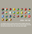 africa round flags part 2 vector image vector image