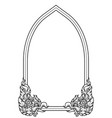 art line draw window arch traditional or vintage