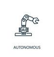 autonomous thin line icon creative simple design vector image vector image