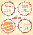 Autumn Lettering Typography Quotes vector image