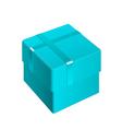 azure package cardboard box opened