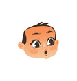 baby face head - eyes and mouth open in surprise vector image vector image