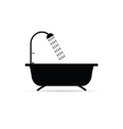 bathtub with shower head vector image