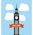 big ben design vector image vector image