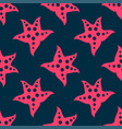 big pink sea starfish inside summer seamless vector image