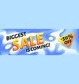biggest ssale is coming - horizontal advertising vector image vector image