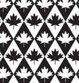Black and white alternating maple leaves on vector image vector image